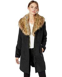Ellen Tracy Zip Front Coat - Black