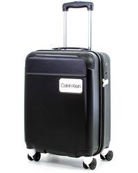 Calvin Klein Casual Hardside Spinner Luggage With Tsa Lock - Black