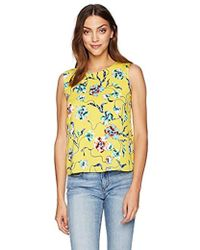 Cooper & Ella Yellow Floral Peony Bow Back Detail Kate Shell
