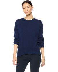 Theory Long Sleeve Karenia Crewneck Sweater - Blue