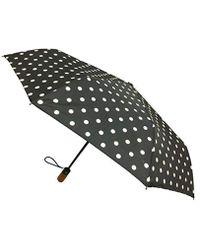 London Fog Auto Open Close Umbrella - Black