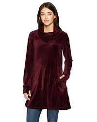 Max Studio - Max Studio Velour Pull Over With Pockets - Lyst