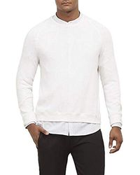 Kenneth Cole Long Sleeve Crew Neck Sweater - White