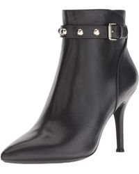 Nine West Fatrina Leather Ankle Boot - Black