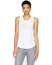 Sundry - Tank Top No Worries - Lyst
