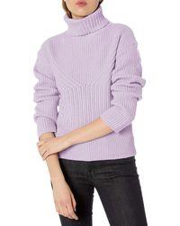 Emporio Armani Cashmere Blend Turtleneck Sweater - Purple