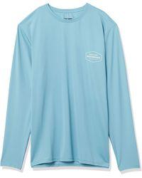 Quiksilver Waterman Gut Check Ls Long Sleeve Rashguard Surf Shirt - Blue
