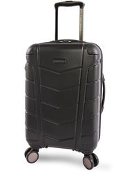 """Perry Ellis Tanner 29"""" Hardside Checked Spinner Luggage - Black"""