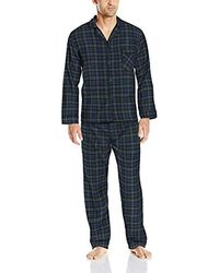 Hanes Long Sleeve Flannel Pajamas - Blue