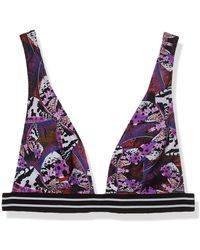Guess Halter Bikini Swim Top - Purple