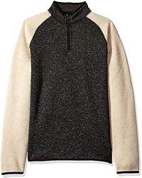 Dockers Quarter Zip Sweater Fleece - Black