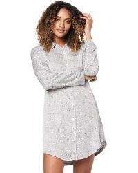Emporio Armani Viscose Night Dress - Gray