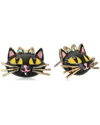 Betsey Johnson - Happy Pretty Pin Faceted Bead Round Stud Earrings - Lyst