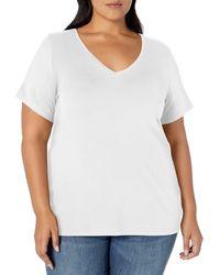 Amazon Essentials Plus Size Short-sleeve Crewneck T-shirt - White