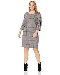 687174f4dbe Lyst - Jones New York Signature Sleeveless Drawstring Striped Dress ...