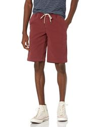 """Goodthreads 11"""" Inseam Pull-on Stretch Canvas Short - Red"""