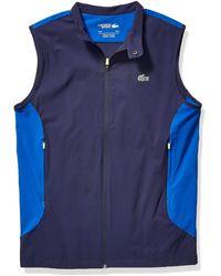 Lacoste Sport Taffetta Side Panel Golf Vest - Blue