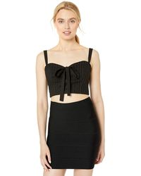 BCBGMAXAZRIA Bcbg Lace-up Bustier Cropped Top - Black