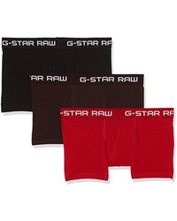 G-Star RAW Classic Trunk Clr 3 Pack - Red