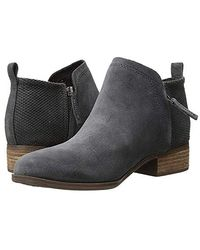 TOMS Black Suede/tex Velour Mix Deia Bootie 10013038