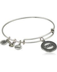 "ALEX AND ANI - ""sorority"" Sigma Expandable Rafaelian Silver-tone Wire Bangle Bracelet - Lyst"