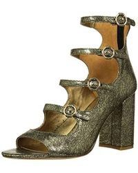 df90f8a6be79bc Lyst - House Of Harlow 1960 Sandals Laina T Strap in Black