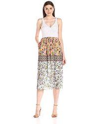 Clover Canyon - Sportswear Neoprene / Georegette Dress - Lyst