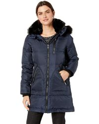 VINCE CAMUTO Womens Thigh Length Heavy Weight Contemporary Dowm Jacket