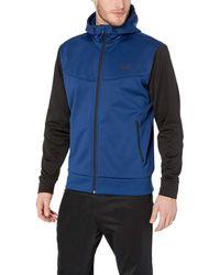 Peak Velocity Quantum Grid-knit Full Zip Athletic-fit Water Resistant - Blue