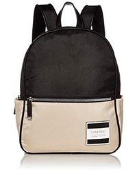 Calvin Klein Kelly Nylon Mid Sized Backpack - Black