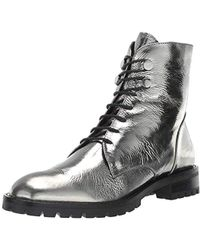 Kenneth Cole - Francesca Lace-up Combat Bootie Boot - Lyst