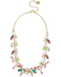 Betsey Johnson Mixed Stone Collar Necklace - Multicolor