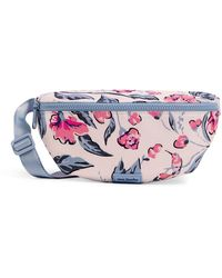 Vera Bradley Recycled Lighten Up Reactive Convertible Crossbody Belt Bag With Rfid Protection - Blue