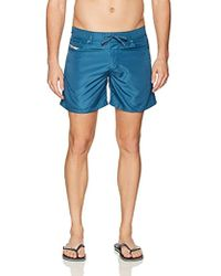 DIESEL Wayeeki Solid Waterdenim 16 Inch Swim Trunk - Blue