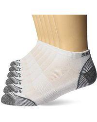 Skechers 6 Pack Low Cut Socks - White