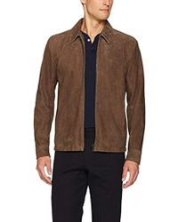 Theory Suede Front Zip Jacket - Brown