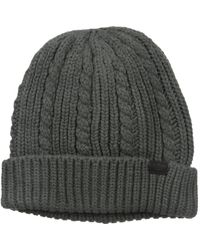 Dockers Cable Knit Beanie Hat - Gray