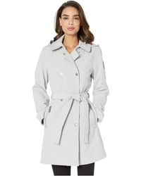 Vince Camuto Double-breasted Softshell Jacket - Gray