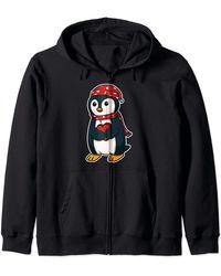 Original Penguin Penguin With Winter Hat For A Nice Party Zip Hoodie - Black