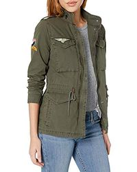 Levi's Four-pocket Cotton Military Jacket With Patches - Green