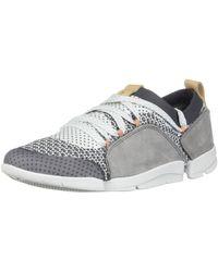 Clarks New Tri Amelia Sneaker Grey Combination 6 - Grau