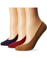Sperry Top-Sider Womens No Show Micro Liner Socks - Red
