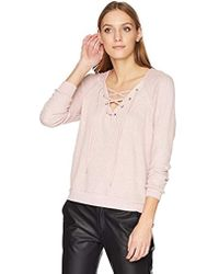 Velvet By Graham & Spencer - Texas Laceup Thermal Top - Lyst