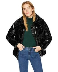 Kendall + Kylie Puffer Coat - Black