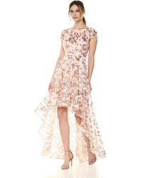 Eliza J High-low Gown With Scoop Back - Pink