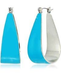 BCBGeneration Bcbg Generation Sculptural Hoop Earrings - Blue