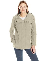 Calvin Klein - Rain Anorak Cotton Jacket With Snap And Zip Closure - Lyst