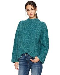 MILLY - Oversized Fisherman Sweater - Lyst