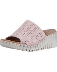 Skechers Slide Wedge Sandal - Pink