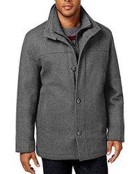 London Fog - Wool-blend Layered Car Coat, Created For Macy's - Lyst